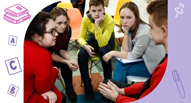 Курсы английского для учеников 13 — 16 лет включают в себя: